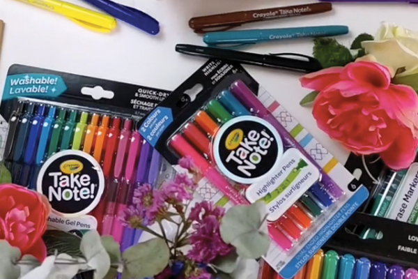 Crayola Take Note back-to-school campaign